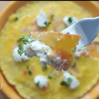 take a bite salmon omelette