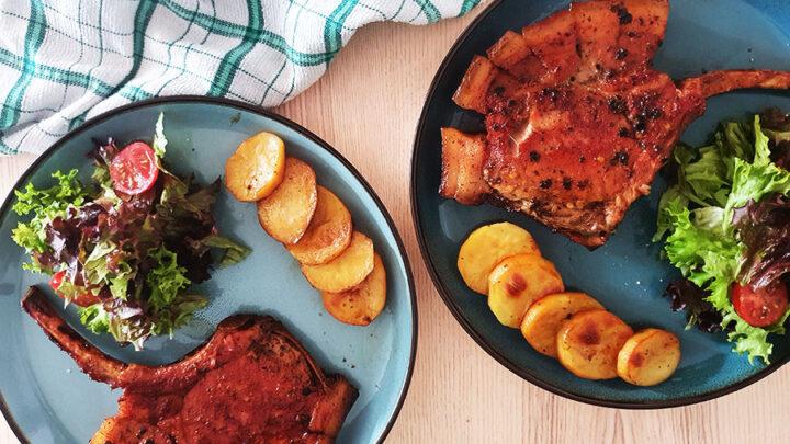 Pork chops - honey glazed - oven baked